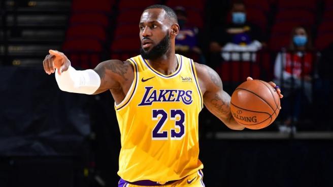 LeBron James, durante un partido de Los Angeles Lakers