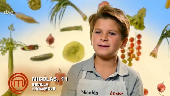 Nicolás, aspirante de 'MasterChef Junior 8'.