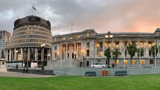 La sede del Parlamento de Nueva Zelanda, en Wellington, en una imagen de archivo.