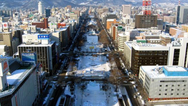 Parque Odori durante el Festival de la nieve de Sapporo.