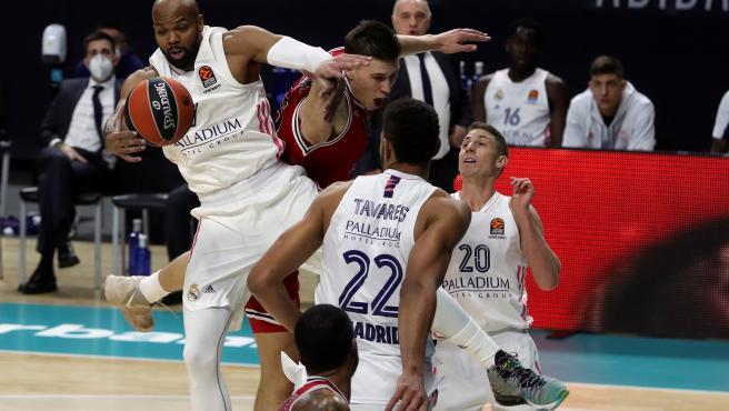 Real Madrid de baloncesto durante un partido de Euroliga