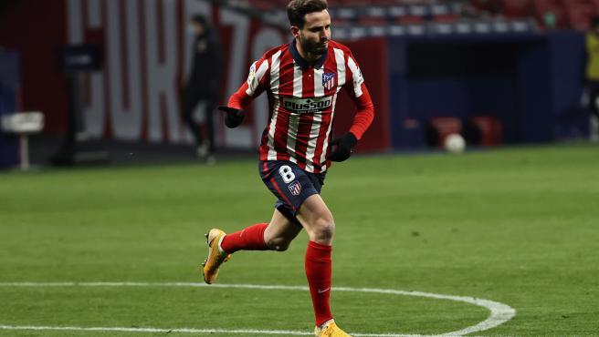 Saúl Ñíguez, durante un partido del Atlético