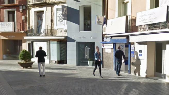 Imagen de una administración de Loterías de Huesca.