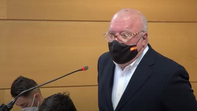 El comisario Villarejo declarando en el juicio.