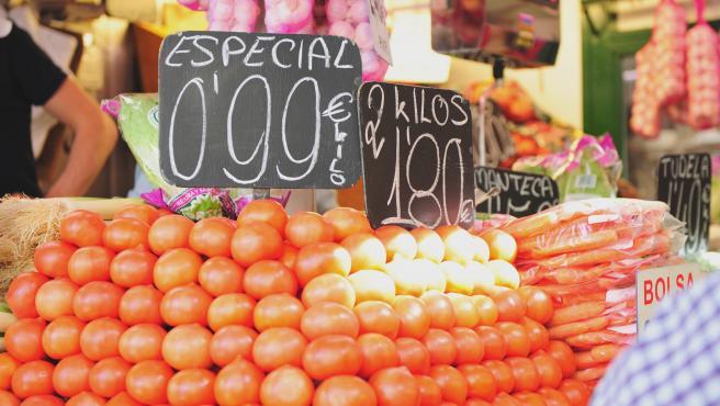 Imagen donde se pueden ver varios precios de alimentos