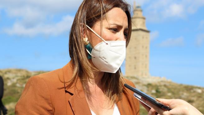 La portavoz de Ciudadanos Galicia, Beatriz Pino
