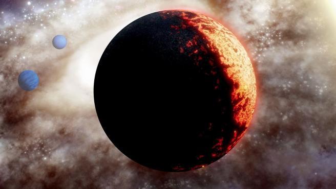 Ilustración artística del planeta TOI 561.