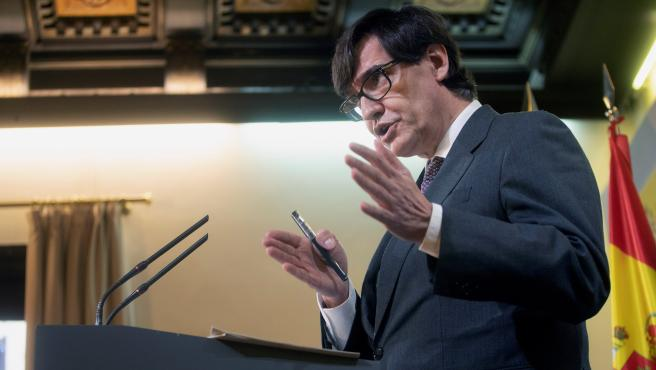 El ministro de Sanidad, Salvador Illa, analiza este sábado la situación epidemiológica en España.