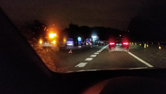 Accidente cerca de Oviedo
