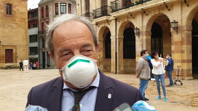 El portavoz del PSOE y exalcalde de Oviedo, Wenceslao López
