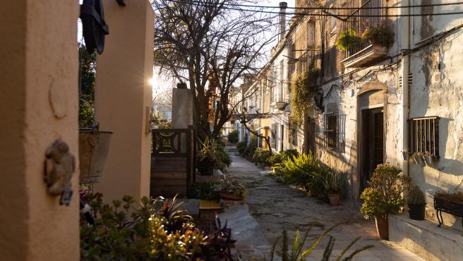 Calle Aiguafreda, protegida por el Ayuntamiento por su valor histórico.