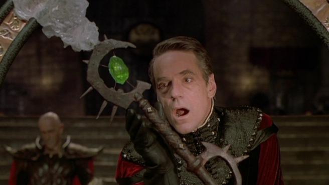 Jeremy Irons en la 'Dragones y mazmorras' de 2000