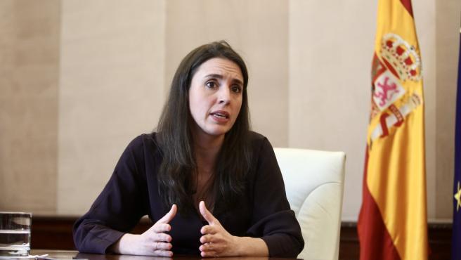 La ministra de Igualdad, Irene Montero, entrevistada por '20minutos'.