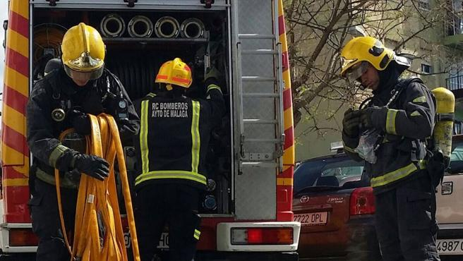 29/04/2018 Efectivos de los bomberos de Málaga, Real Cuerpo de Bomberos de Málaga SOCIEDAD ANDALUCÍA ESPAÑA EUROPA MÁLAGA BOMBEROS