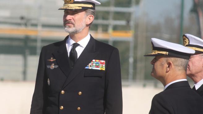 Imagen del Rey Felipe VI en una de sus últimas visitas a la provincia de Cádiz en noviembre de 2019