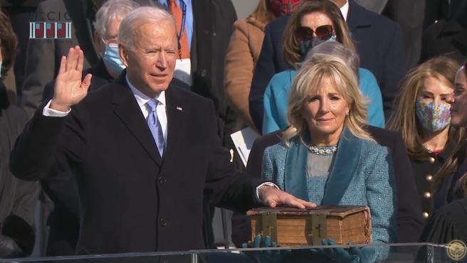 Joe Biden toma posesión como 46º presidente de Estados Unidos.