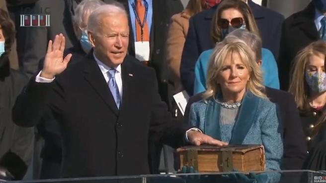 Joe Biden y Kamala Harris juran su cargo ante el Capitolio