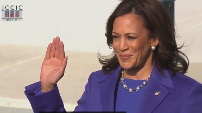 Kamala Harris, en el juramento