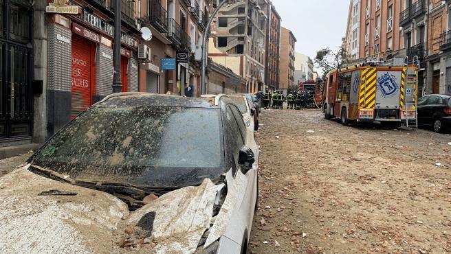 La calle Toledo (Madrid), completamente devastada tras la explosión.