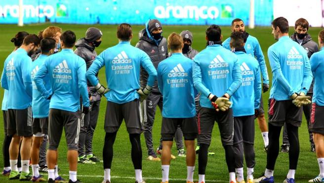 Sesión de entrenamiento del Real Madrid.