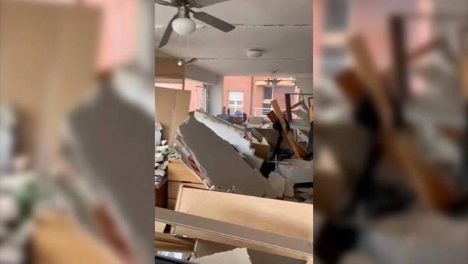 Este vídeo, grabado por un sacerdote que se había quedado atrapado en el interior del edificio, muestra el estado catastrófico en el que quedó el inmueble tras la explosión de gas, en el centro de Madrid.