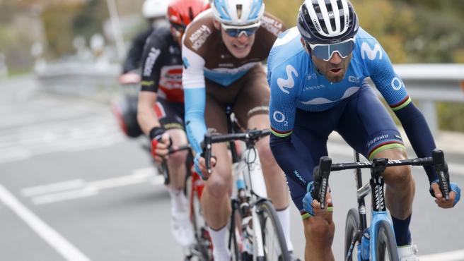 El corredor del Movistar Team Alejandro Valverde fue tercero en la séptima etapa de La Vuelta de 2020