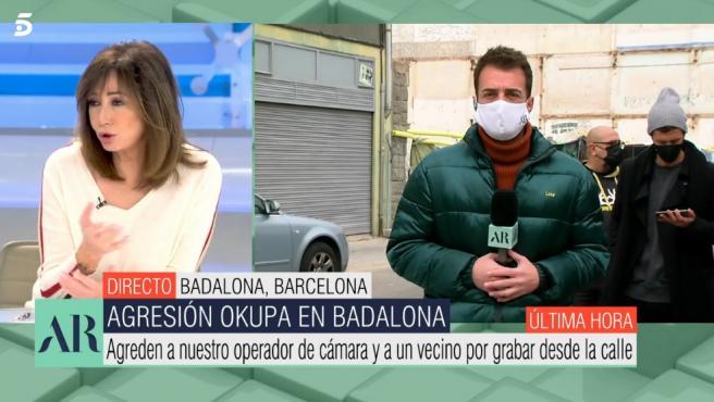 El reportero agredido.