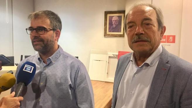 Iván Piñuela y Wenceslao López en la sede de la AMSO, en una foto de archivo
