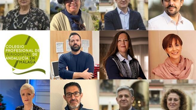 Junta directiva de la demarcación de Málaga del Colegio de Periodistas de Andalucía