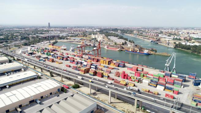 Vista aérea de las instalaciones del Puerto