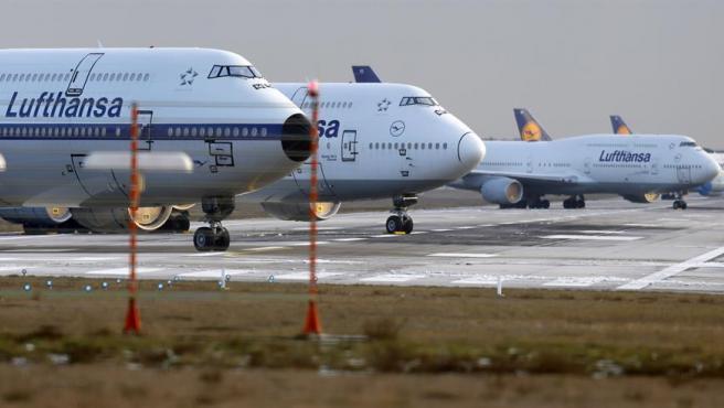 Imagen de archivo de aviones de la empresa alemana Lufthansa