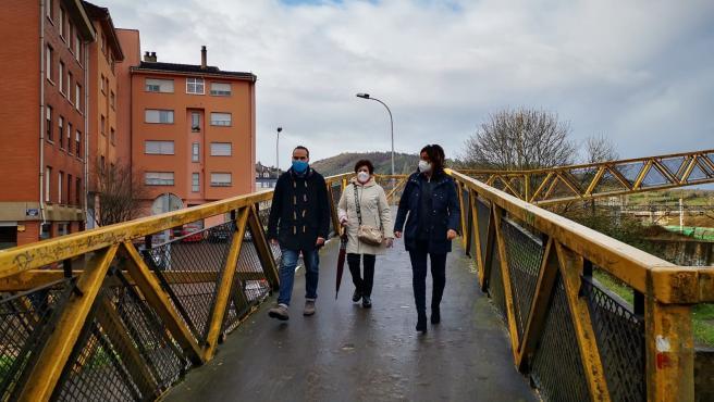 Beatriz Polledo, a la derecha