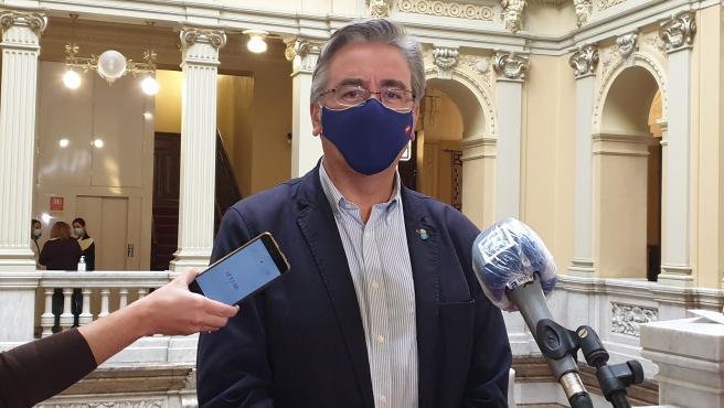 El portavoz adjunto del PP en la Junta General, Pablo González