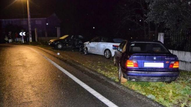Accidente de tráfico en Toén (Ourense).