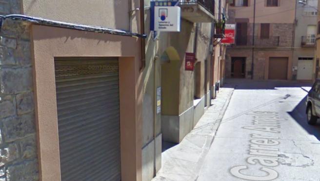 Despacho receptor de lotería en Santpedor, Barcelona.