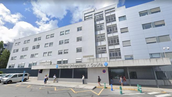 Entrada del Complejo Hospitalario Universitario de A Coruña (CHUAC).