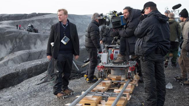 Christopher Nolan en pleno rodaje