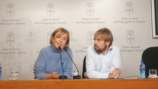 Covadonga Tomé y Daniel Ripa en rueda de prensa, en una imagen de archivo