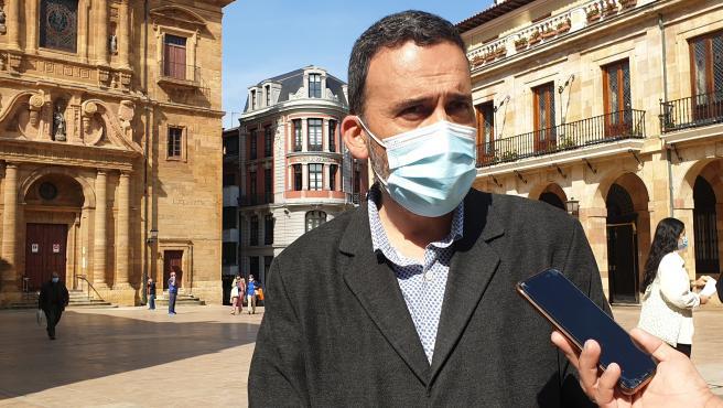 El concejal socialista en el Ayuntamiento de Oviedo Ricardo Fernández
