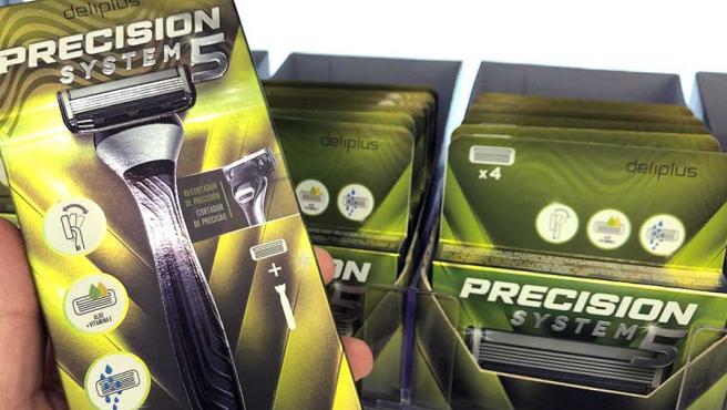 Las nuevas maquinillas de cinco hojas Precision System5 de Deliplus, en el lineal de Mercadona.