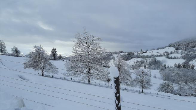 Nieve en Cangas del Narcea, temporal.
