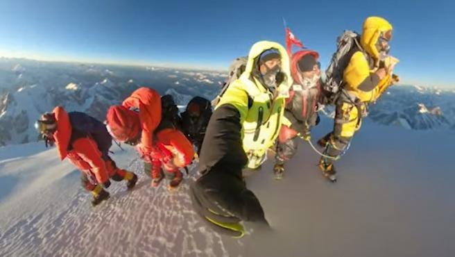 Los sherpas que hicieron la cumbre invernal en el K2