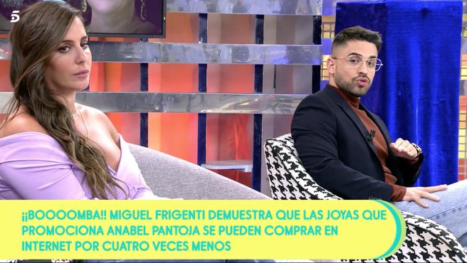 Anabel Pantoja y Miguel Frigenti en 'Sálvame'.