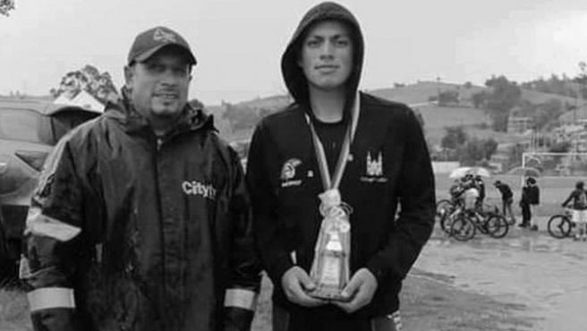 Daniel Pedraza Castillo, prometedor ciclista colombiano.