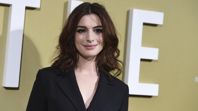 Anne Hathaway en 2019 durante el estreno de 'Timadoras Compulsivas'.