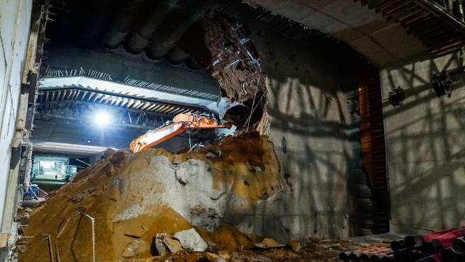 Las obras del túnel.