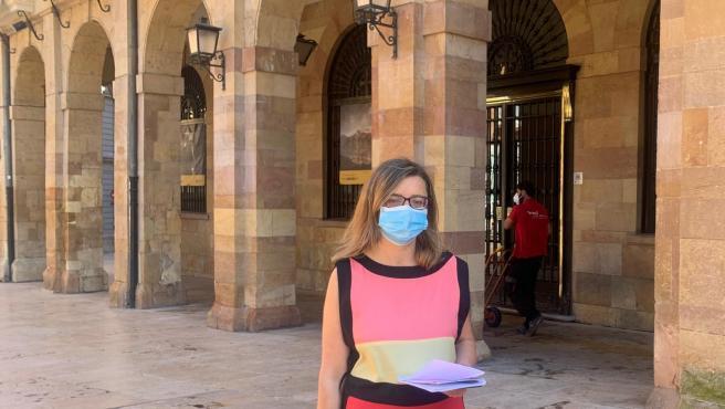 La portavoz de Somos Oviedo, Ana Taboada.