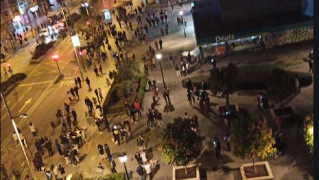 Las calles de Granada, llenas de gente tras el terremoto
