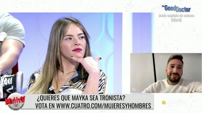Marta Peñate y Lester en 'Mujeres y hombres y viceversa'.