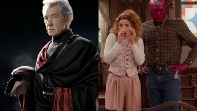 Magneto (Ian McKellen) es padre de Wanda (Elizabeth Olsen) en los cómics.